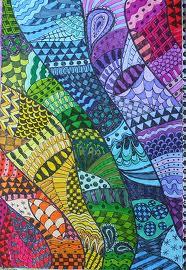 Zentangle Rainbow Series #5 BLUE
