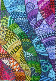 Zentangle Rainbow Series #8 ROY G. BIV