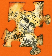 Altered Puzzle Piece:  Halloween