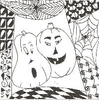 Halloween Zentangle