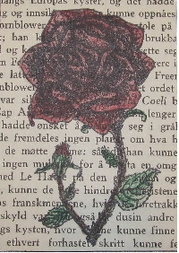 Book Page ATC #9 - Valentines