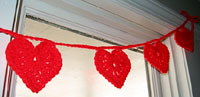 St. Valentine's Hearts on a String