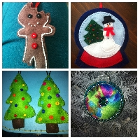 Felt Christmas Ornament Swap