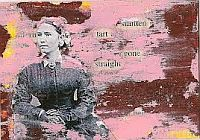 Handmade Altered Text Card With An Image #1