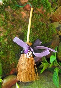 Decorated mini besom