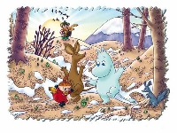 Spring Moomins ATC