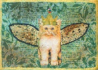 Cat and Kittens ATC