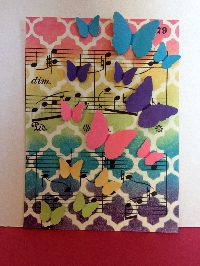 SHEET MUSIC ATC with a BUTTERFLY!