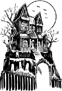 Draw an atc haunted house swap bot Haunted house drawing ideas