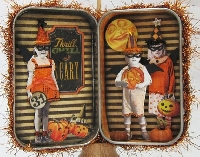 Altered Tin--Halloween