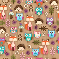 Woodland Critters Big & Small CFLAG