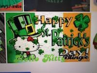 ATC: Hello Kitty ST. Patrick's Day