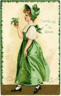St. Patrick's Day Binder Trading Card