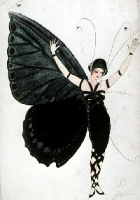 AACG: Vintage Butterfly Lady ATC