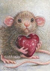 Animal illustration postcard