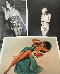 Pin-Up Girl/Burlesque Postcard