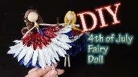 MLU: Red, White, Blue fairy doll or mermaid USA