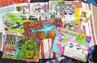 Handmade Postcard - USA