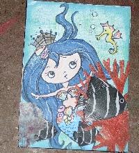 MLU: Mermaid Envelope Flip book