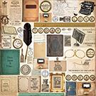 MPU: Scrapbook paper postcard