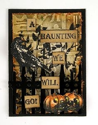 ATCs in 3s The Pumpkin, The Black Cat & The Ghost