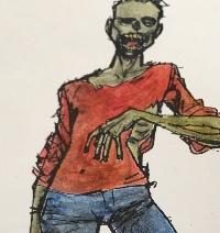 Zombie, Scary, Spooky, Halloween PC & Flat Gift