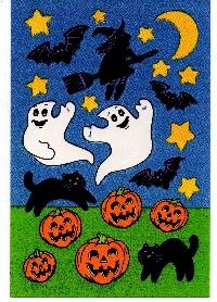 20 Halloween Stickers Swap International