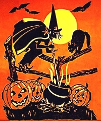 VS - Halloween ATC w/ a Black Cat
