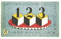 POSTCARD WITH NUMBERS