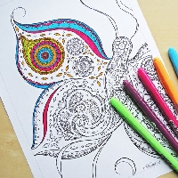 Color yourself calm! #1 US only.