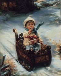 Christmas/Holiday card swap # 3 - Kids on the snow