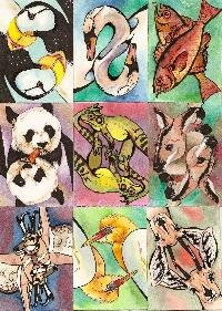 ATC: Animal (Hand Drawn/Painted)