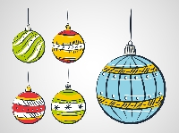 Hand drawn Holiday Ornament ATC
