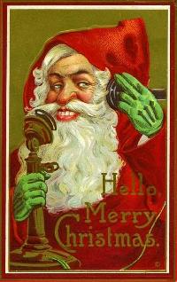 Creepy vintage Santa postcard