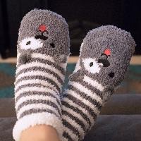 Wrapped Pair of Fuzzy Socks Stocking Stuffer Swap