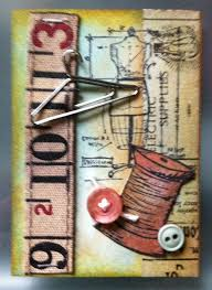 Quick SEWING themed ATC