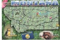 Naked U.S. State Map Postcard #7