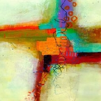 ATC: Collage: Print, Write, Paint