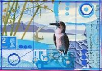 MA: Monochrome Blue Postcard USA