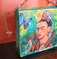 FRIDA KHALO ~~ORNAMENT SWAP!   1st in series