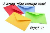 1 stamp Filled envelope.