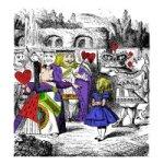 Alice in Wonderland ATC - Queen of Hearts