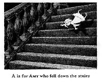 Gorey Alphabet ATC -Letter A