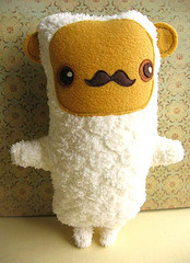 Woodland Creature with a Mustache Softie
