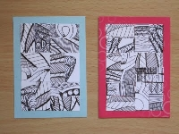 Altered Zentangle ATCs