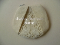 shabby lace coin purse