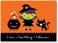 Boo!  A Halloween (store bought) card