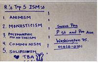Top Five Postcard #2 -ISMs