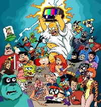 Cartoon Attack - A-Z Cartoon Character ATC series