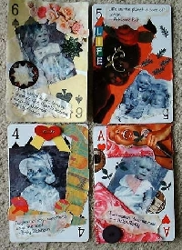 Altered Playing Cards~~ Get the Whole deck~~ 10's